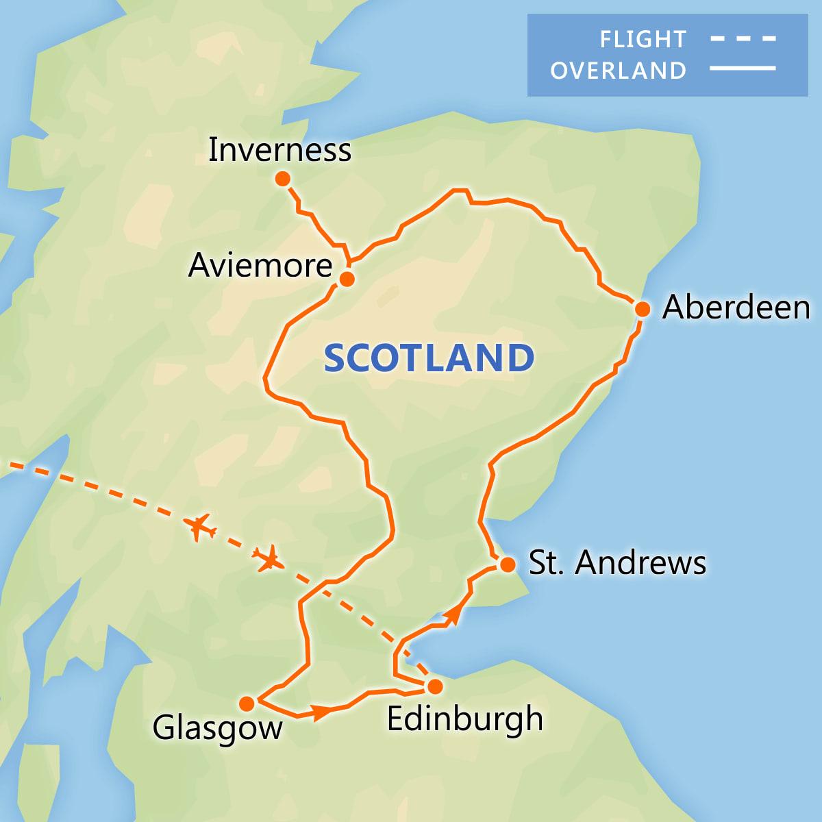 Discover Scotland map