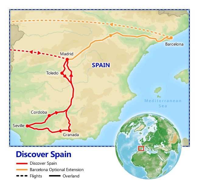 Discover Spain map