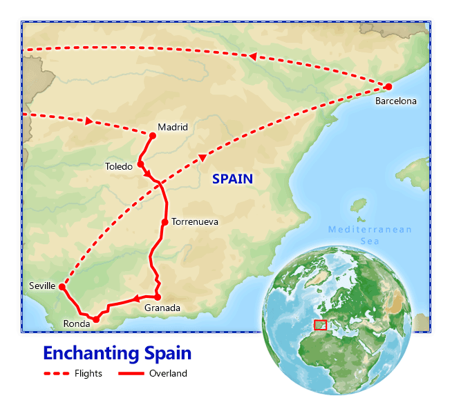 Enchanting Spain map