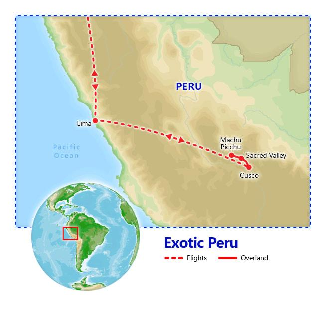 Exotic Peru map
