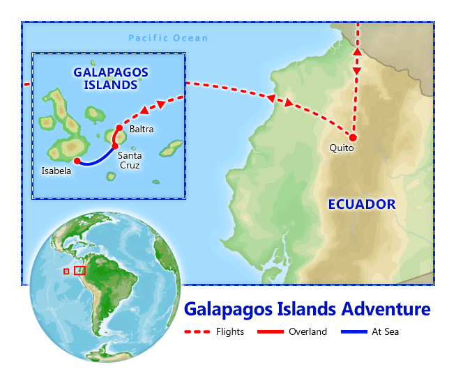 Galapagos Islands Adventure map