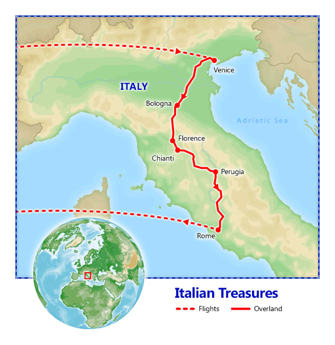 Italian Treasures map