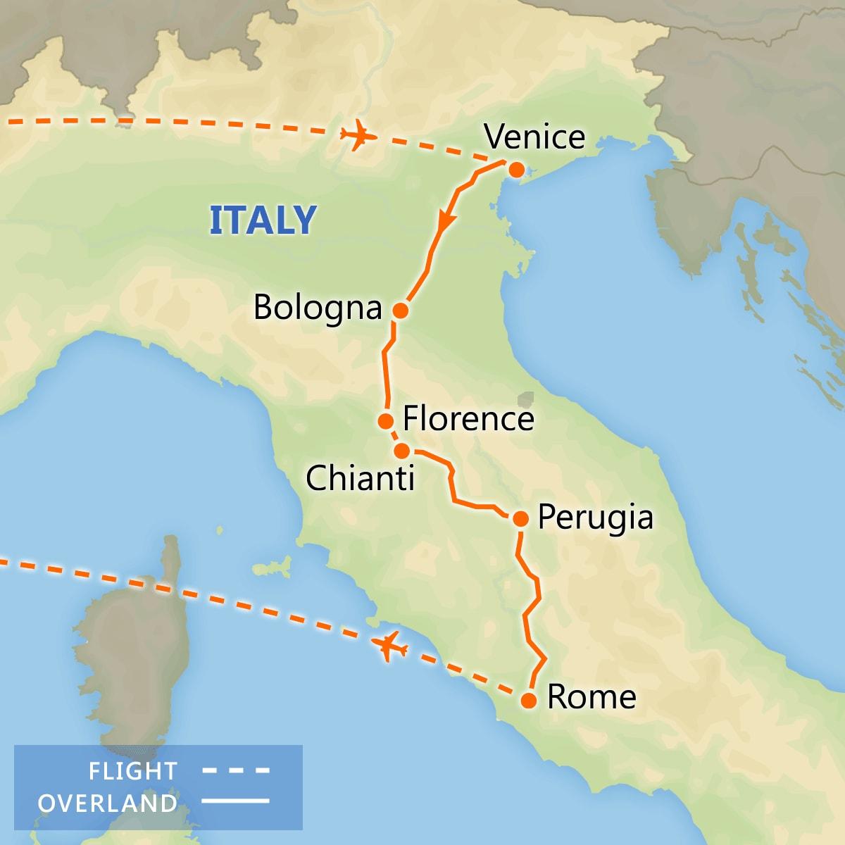 Italian Treasures map