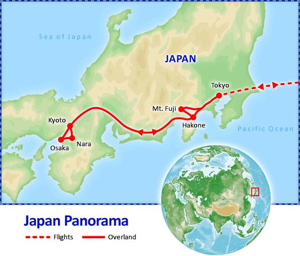 Japan Panorama map