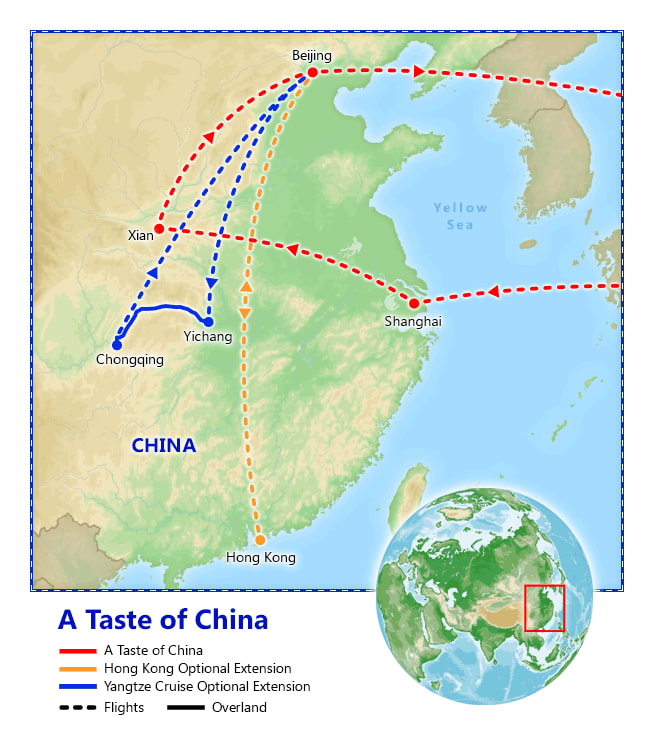 A Taste of China map
