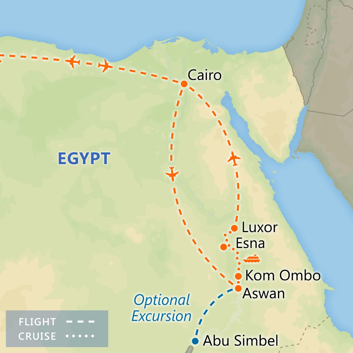 A Taste of Egypt map