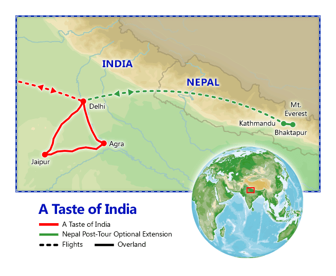 A Taste of India map