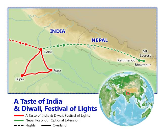 A Taste of India & Diwali, Festival of Lights map