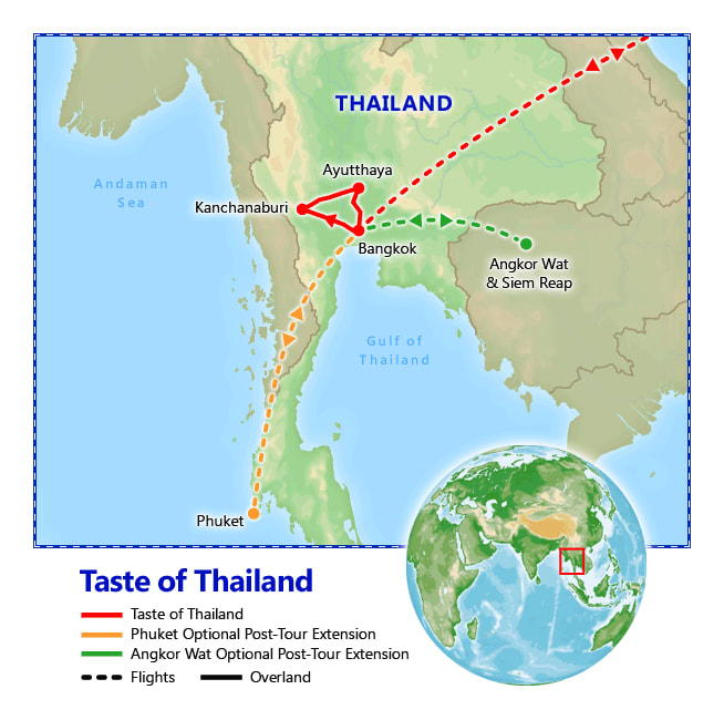 A Taste of Thailand map