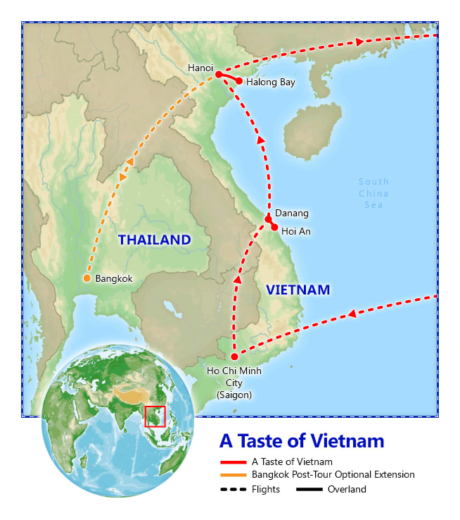 A Taste of Vietnam map