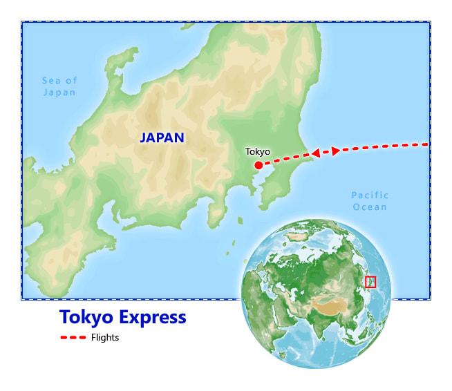 Tokyo Express map
