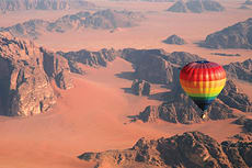 Hot air balloon ride, Wadi Rum