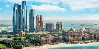 Etihad Towers & Emirates Palace Hotel, Abu Dhabi