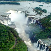 Aerial view of Devil's Throat at Iguazu Falls Photo by Mario Robert Duran Ortiz