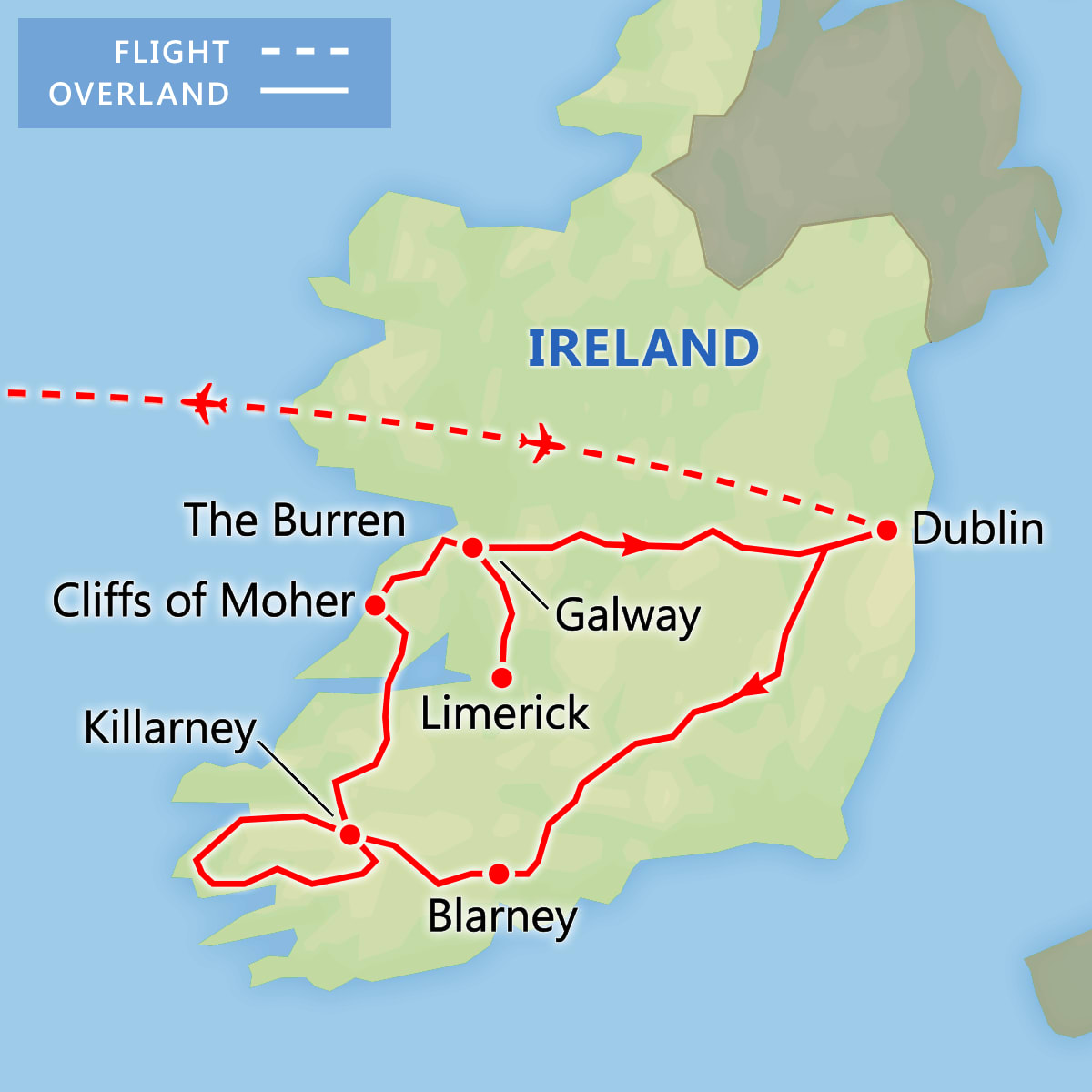 A Taste of Ireland map