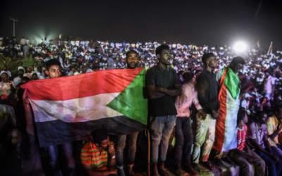 Sudanese protestors