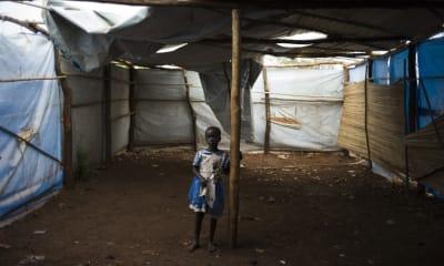 A South Sudanese child at the Bidibidi refugee camp