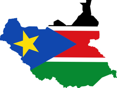 South-Sudan-Flag-Map-With-Background