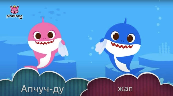 RPCV collaborates with local organization to translate baby shark Wash your Hands video into Kyrgyz