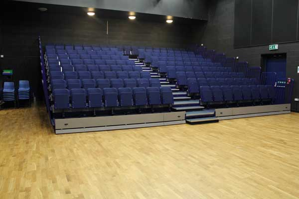 Theatre with chairs put away