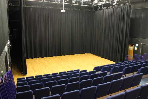 Theatre with chairs set out