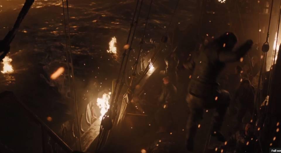 Perang malam hari dengan api