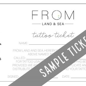 A sample tattoo ticket image