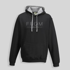 A black From Land and Sea Hoodie