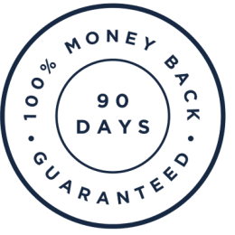 90 day 100% money-back guarantee