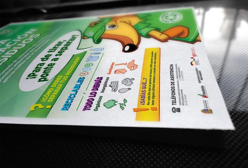 Campaña de reciclaje - detalle poster