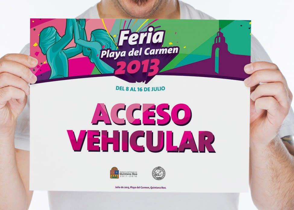 Feria Playa del Carmen 2013 - acceso vehicular