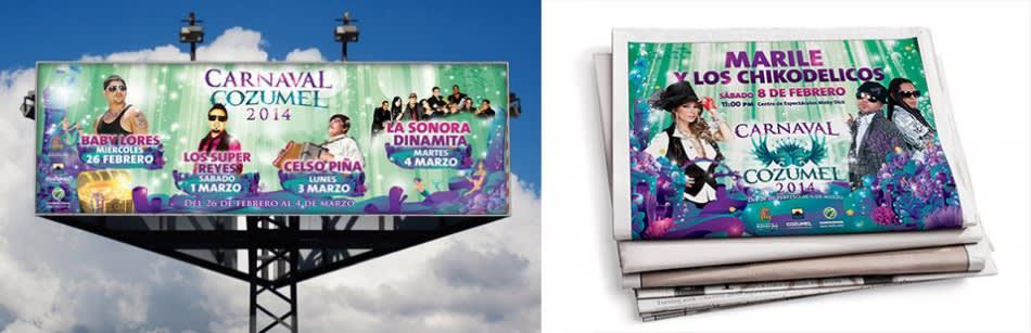 Anuncios Carnaval Cozumel 2014