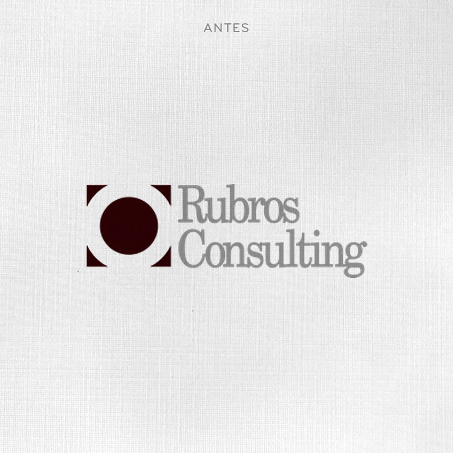 Logotipo anterior Rubros Consultants