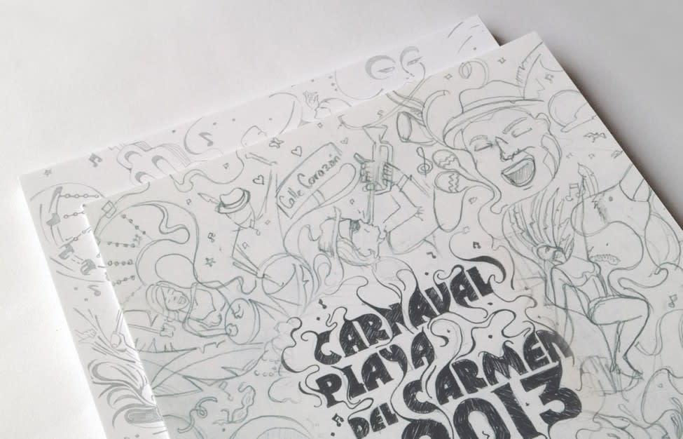 Boceto 2 Carnaval Playa del Carmen 2013