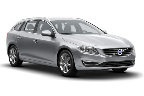 Volvo V60 Summum Elctric Silver front og side