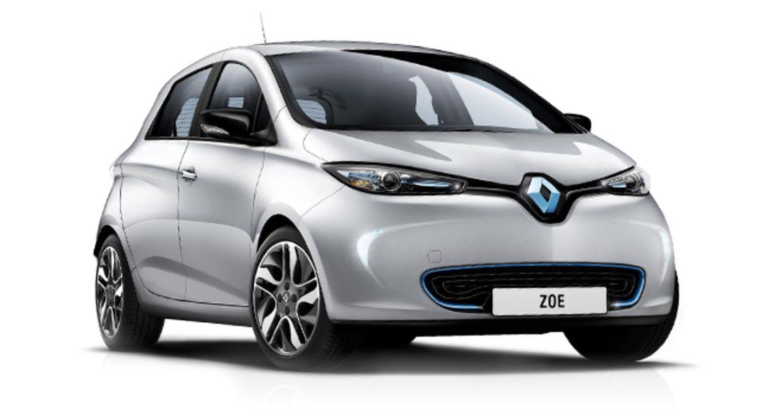 Sølvfarget Renault Zoe Elbil