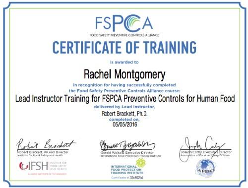 Rachel Montgomery RSM Lead Instructor