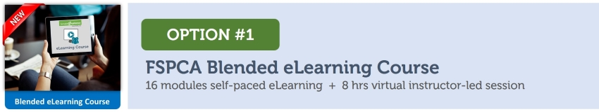 Option 1 Online - FSPCA Blended eLearning Course