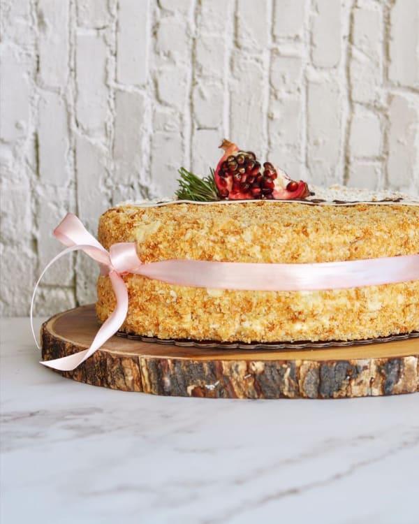 Tort Napoleon cu cremă clasică Mousseline