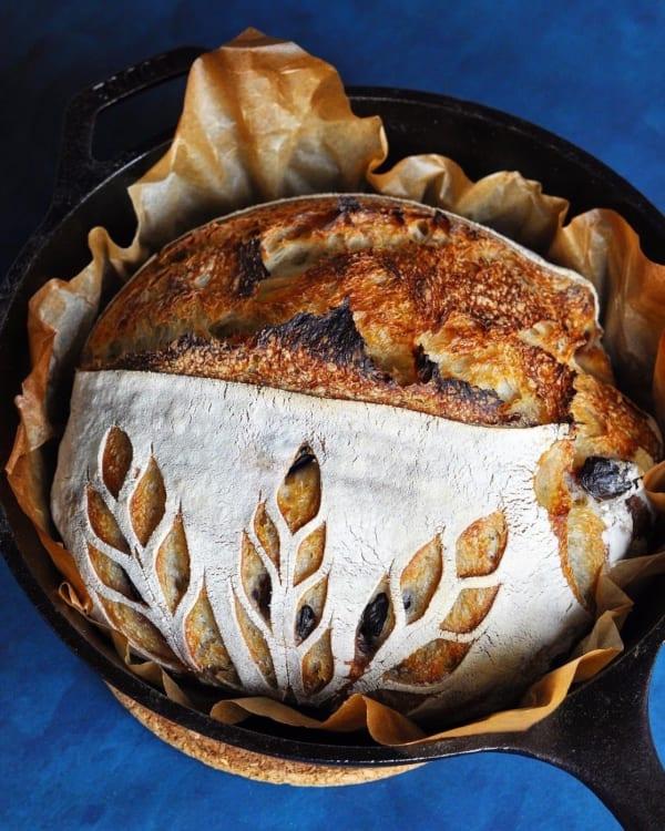 Pâine cu maia și măsline Kalamata
