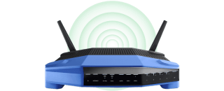 A supported router.