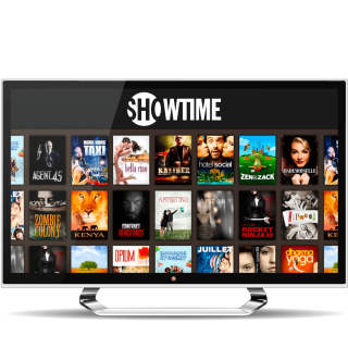 Showtime programs on a computer monitor.