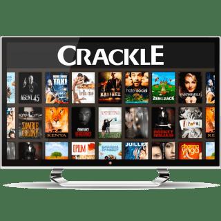 Crackle on a desktop screen.