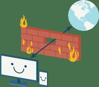ExpressVPN lets you break through firewalls.