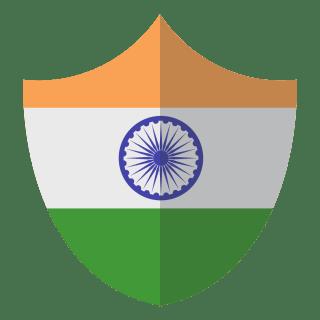 Indian flag shield symbol