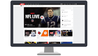 ESPN's homepage on a desktop screen