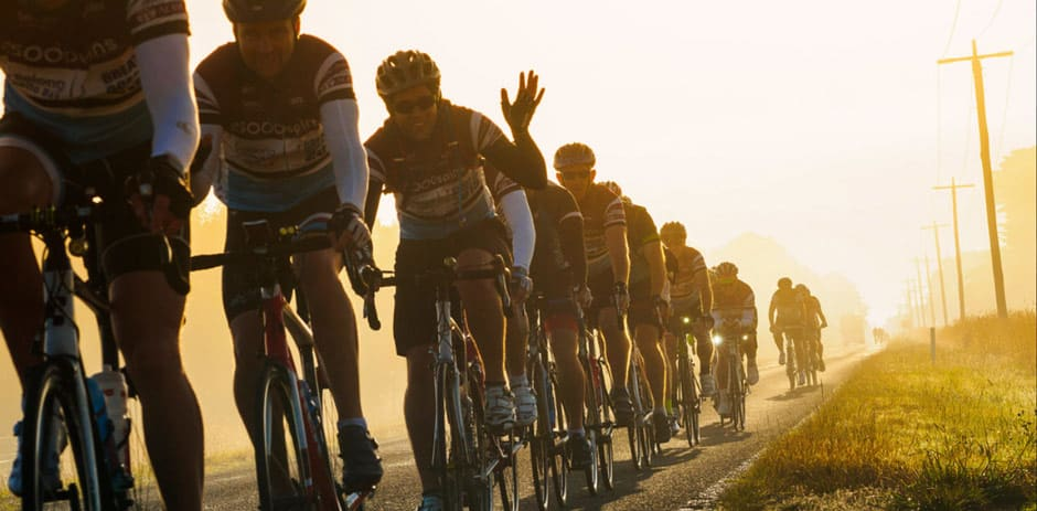 Riders onthe Great Ocean Road during last years 25,000 Spins charity event!