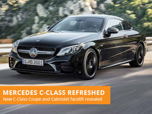 Mercedes C-Class Coupe and Cabriolet Refreshed