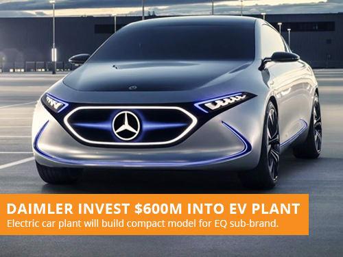 Daimler Invest $600M Into EV Plant