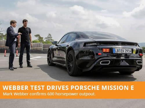 Webber Test Drives Porsche Mission E